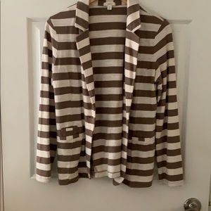 Striped off-white and brown dress jacket